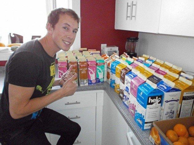 szivárvány színű iglu tejes dobozokból - így kezdődött az egész